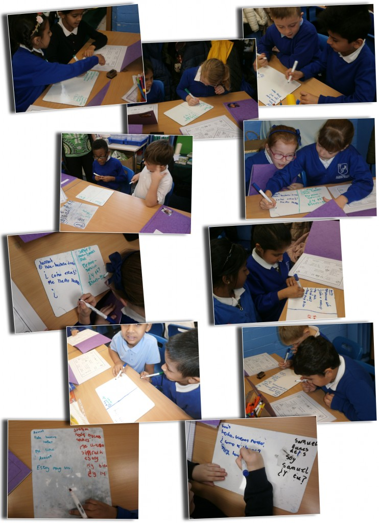 year 3 writing their conversations